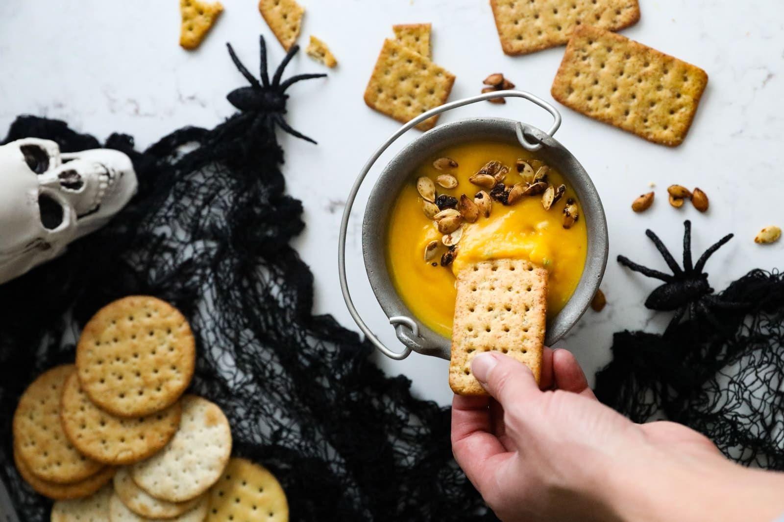 Cauldron Queso Recipe Food Recipes Food Acorn Squash