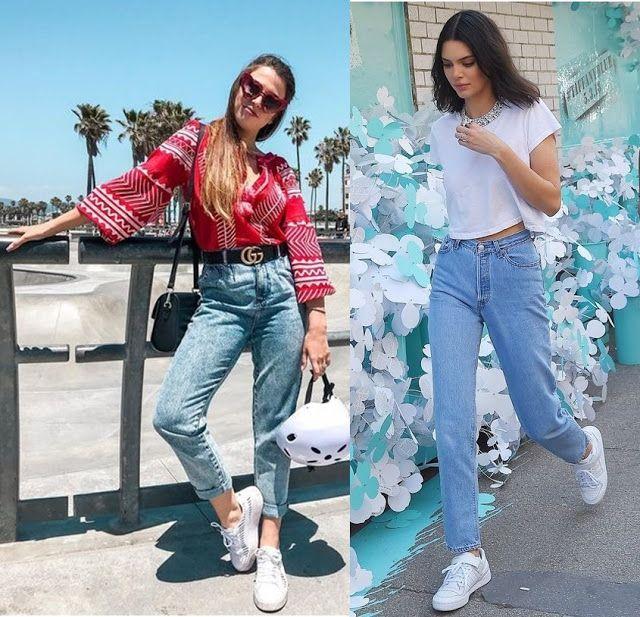 Fabi Santina, Kendall Jenner, looks calça jeans, blusa vermelha estampa  étnica, blogueiras, looks das famosas, óculos de sol vermelho, tênis  branco, ... a5ed5fb5f2