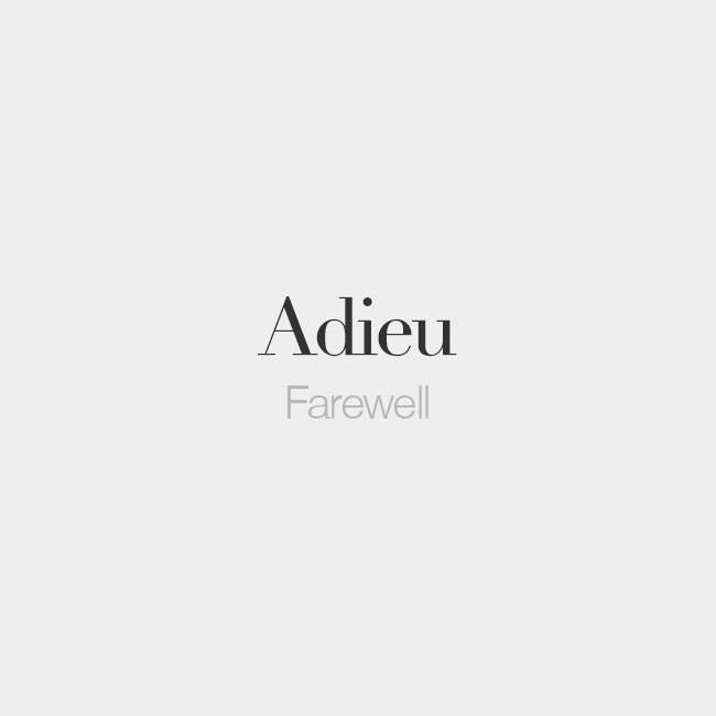 Thanks For The Memories Adieu With Images French Words How