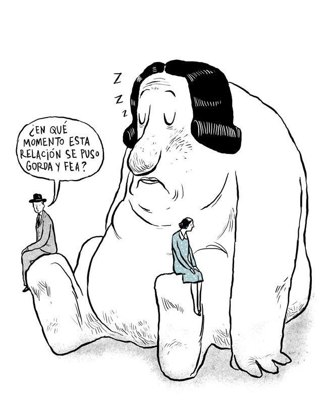 Una Relacion Gorda Y Fea Illustration Quotes Humor Funny