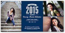 Premium Stock 3 Photo Graduation Announcements & Photo Graduation Announcements   Shutterfly