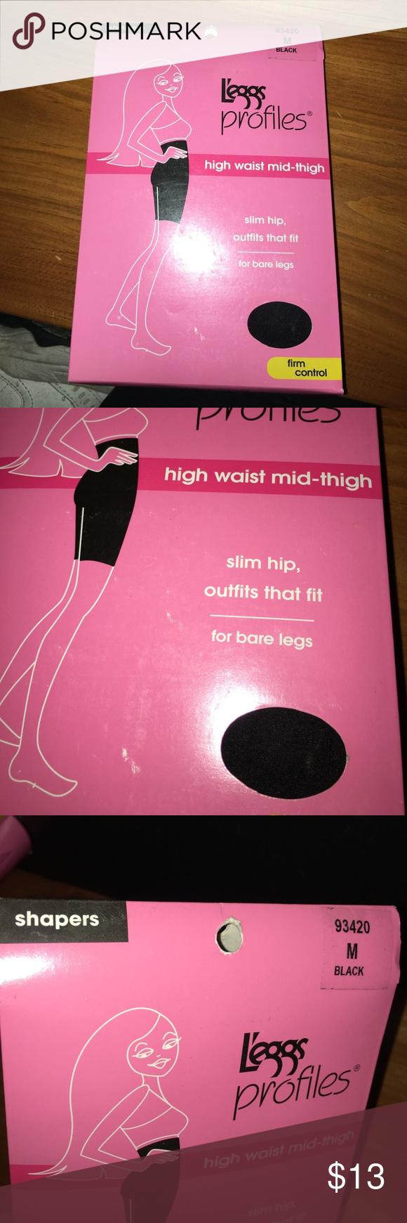 d463549678 Leggs Profiles High Waist Mid Thigh Shaper Medium New in package. Black.  Medium. Leggs Intimates   Sleepwear Shapewear