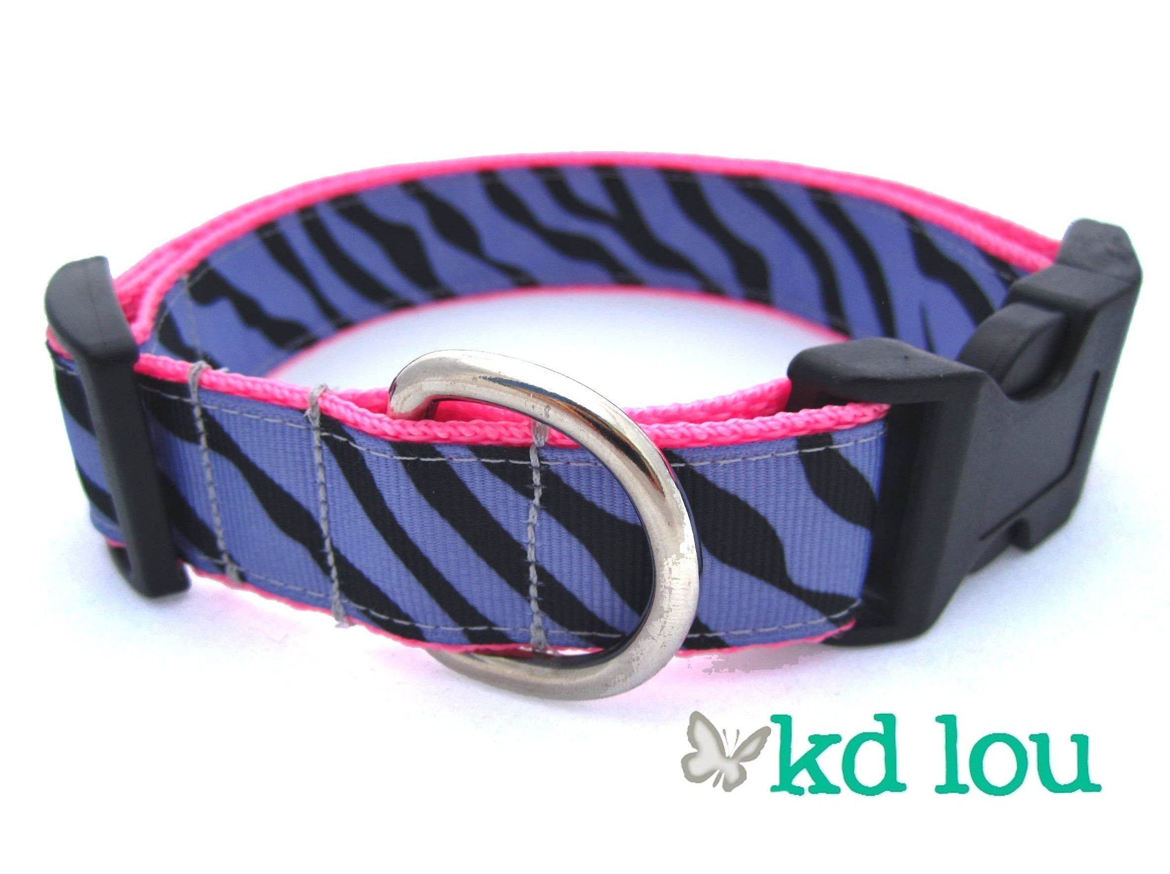 Purple Zebra Dog Collar  www.facebook.com/kdlou