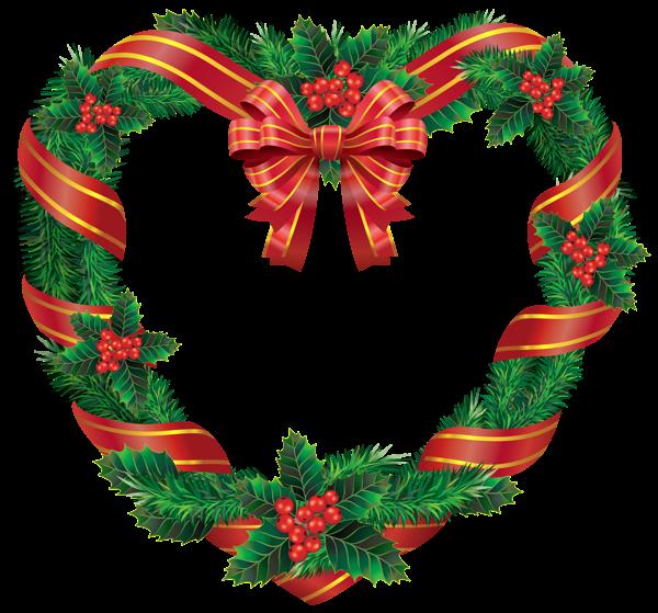 Transparent Christmas Heart Wreath Png Clipart Christmas Hearts Christmas Wreaths Christmas Wreath Clipart