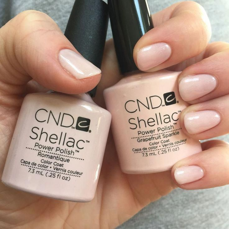 Photo of CND Shellac // Romantique with a layer of grapefruit sparkle. – Beauty Tips & Tricks