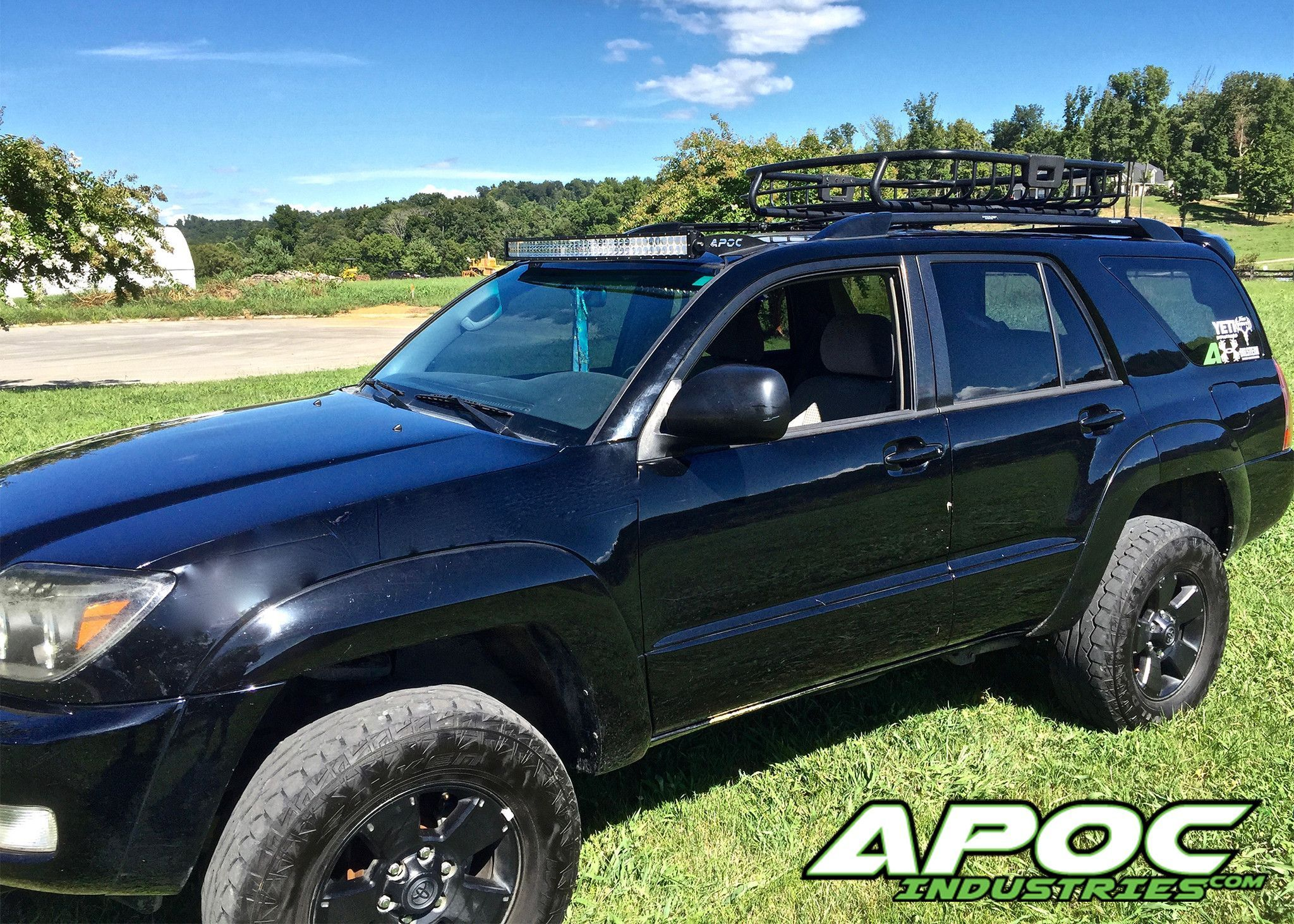 Toyota 4 runner led light bar roof mount for 42 02 09 toyota 4 runner apoc roof mount for 42 curved led light bars mozeypictures Choice Image