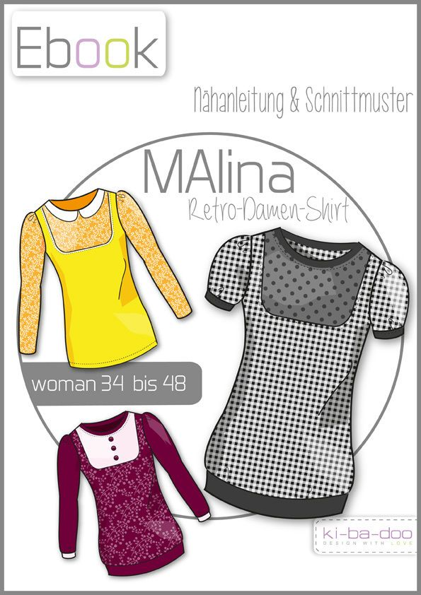 Ebook MALINA - Ebook - Schnittmuster und Anleitung als Pdf Datei ...