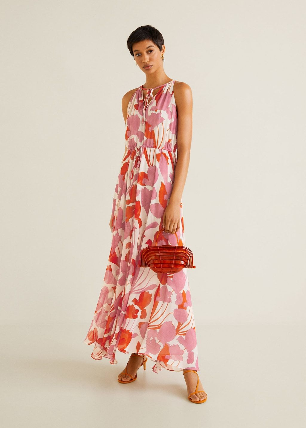 Mango Printed Long Dresses Mango Clothing Dresses