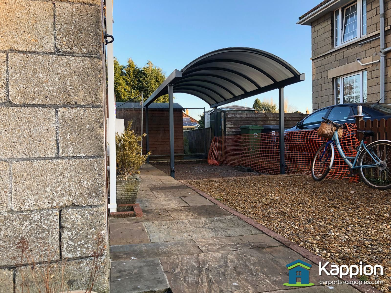 Single Half Curved Carport Installed In Melksham By Kappion