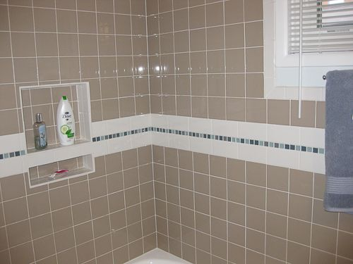 Tiled Shower Niches Tile In Recessed Niche Shelf