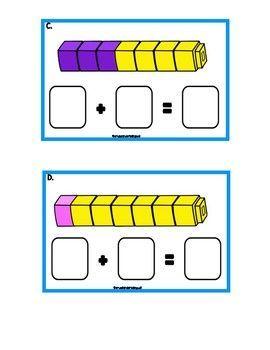 FREE MATH TASK CARDS Kindergarten Math task cards
