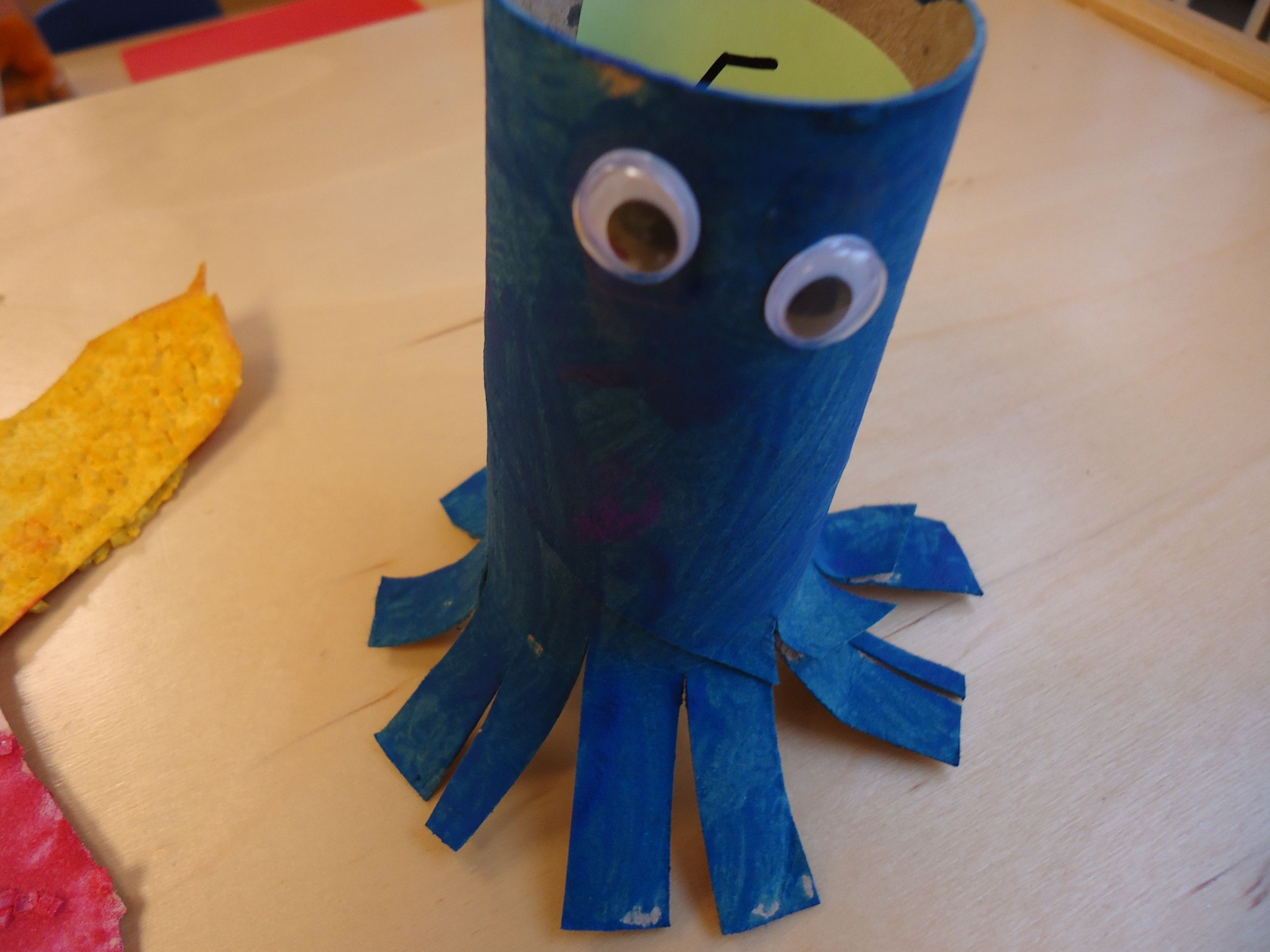Under The Sea Octopus Art The Children Cut The Bottom Of A Toilet Paper Tube To Resemble The