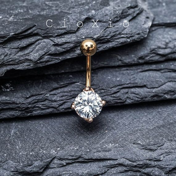 Cross belly button ring-7658