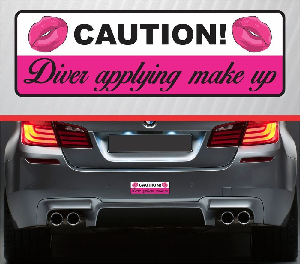 Caution Applying Make Up Funny Sticker Vinyl Decal Car Hot Girl - How to make vinyl decals for cars
