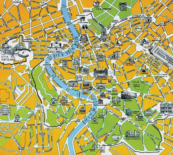 Rome City Tourist Map M Do Europe Pinterest: City Sightseeing Rome Map At Infoasik.co