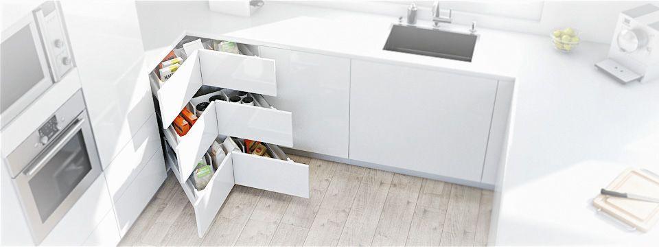 La solution idéale pour le coin de la cuisine  le meuble d\u0027angle