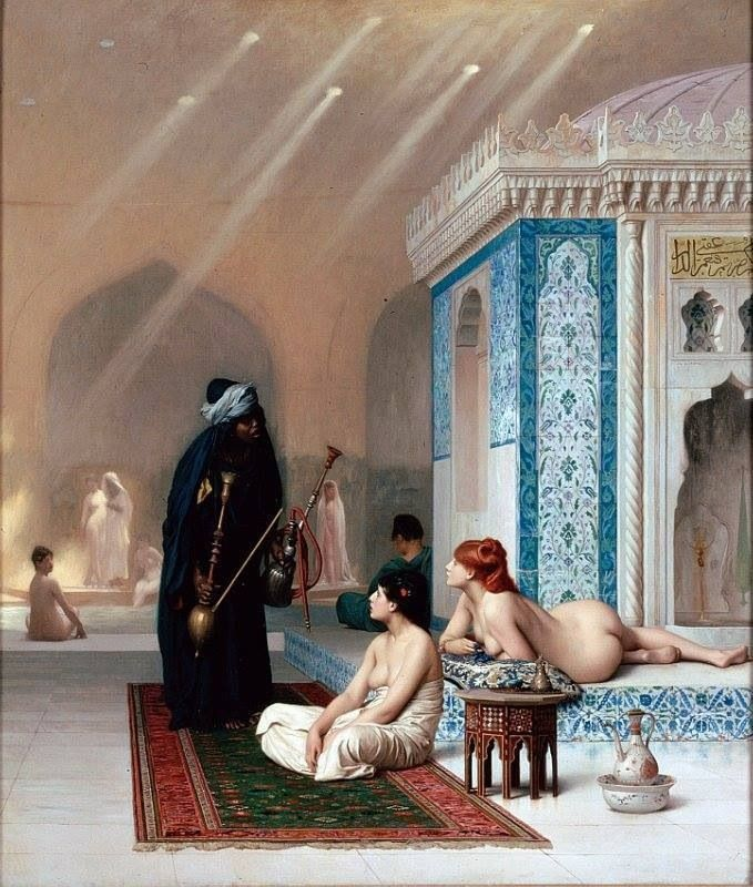 Jean-Léon Gérôme Pool in the Harem  Oil on canvas
