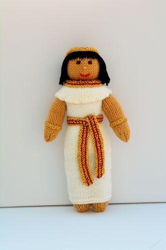 Menet Egyptian Princess Doll Knitting Pattern Beginner Knitting