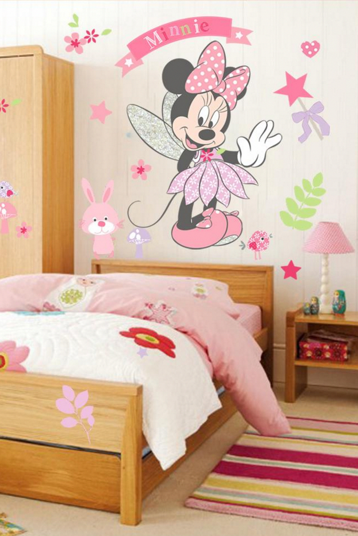 Minnie Mouse Cute Wall Decal For Girls Bedroom Minnie Mouse