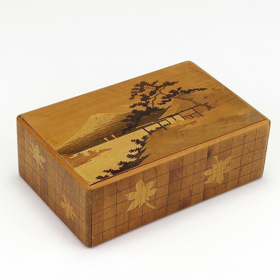 Vintage Japanese Inlaid Puzzle Box Puzzle Box Wooden Keepsake Box Vintage Japanese