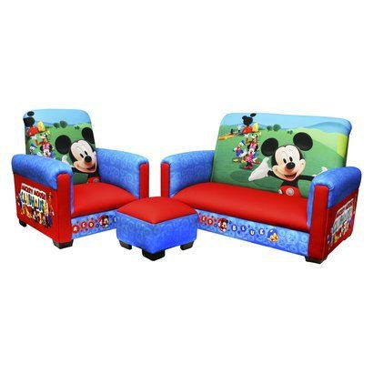 Disney Mickey Mouse Sofa Chair Ottoman Set at Target  sc 1 st  Pinterest & Disney Mickey Mouse Sofa Chair Ottoman Set at Target | ideas for ...