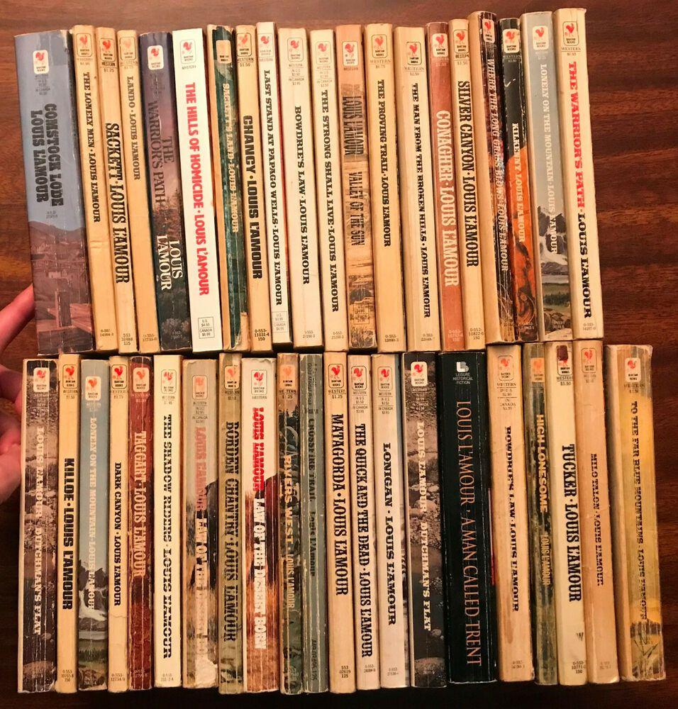 Louis lamour 41 book paperback lot louis l amour