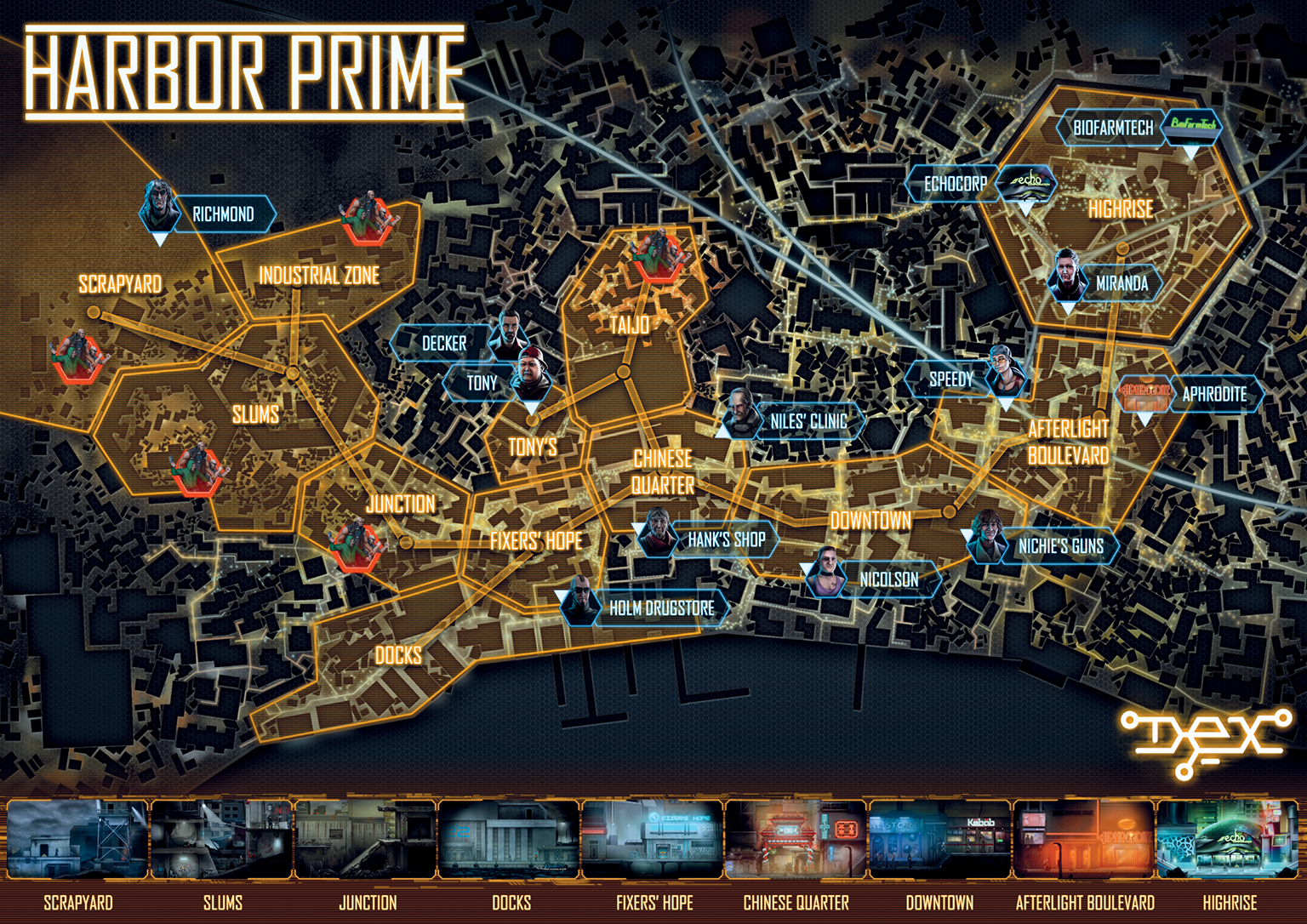 One of the bonuses you get from playing the Dex demo - a map of Harbor Prime! See more at http://drnilesclinic.com