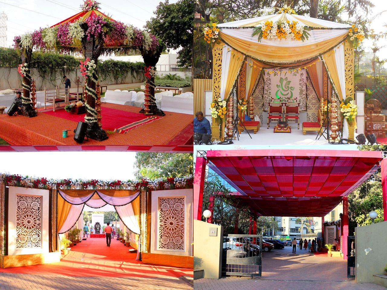 Wedding stage decoration design  Mumbai Indian Wedding Reception Decorators and Planners Goa Beach