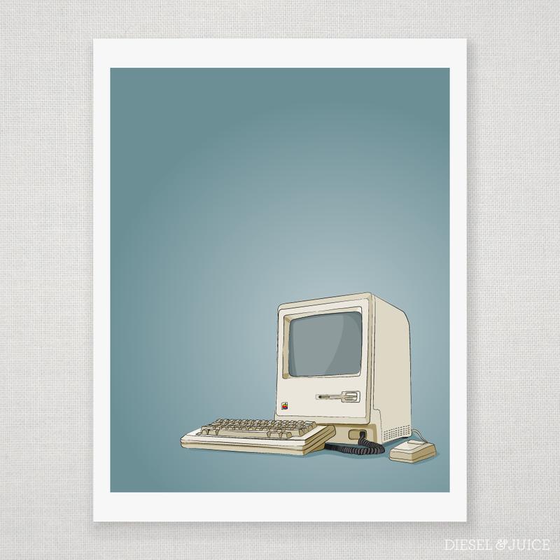 Classic Mac Computer Giclee Print | Design | Mac, Giclee