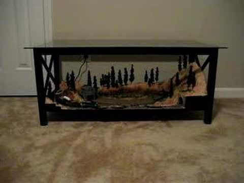 This would be perfect in the living room chris look i 39 m helping pinterest model train Train table coffee table