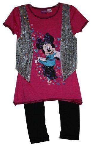 Disney Minnie Mouse 2PCs Short Sleeve T-shirt Vest & Pants Set Girl Size 4 by Disney, http://www.amazon.com/gp/product/B00946VS5M/ref=cm_sw_r_pi_alp_qsLjrb029Y08H