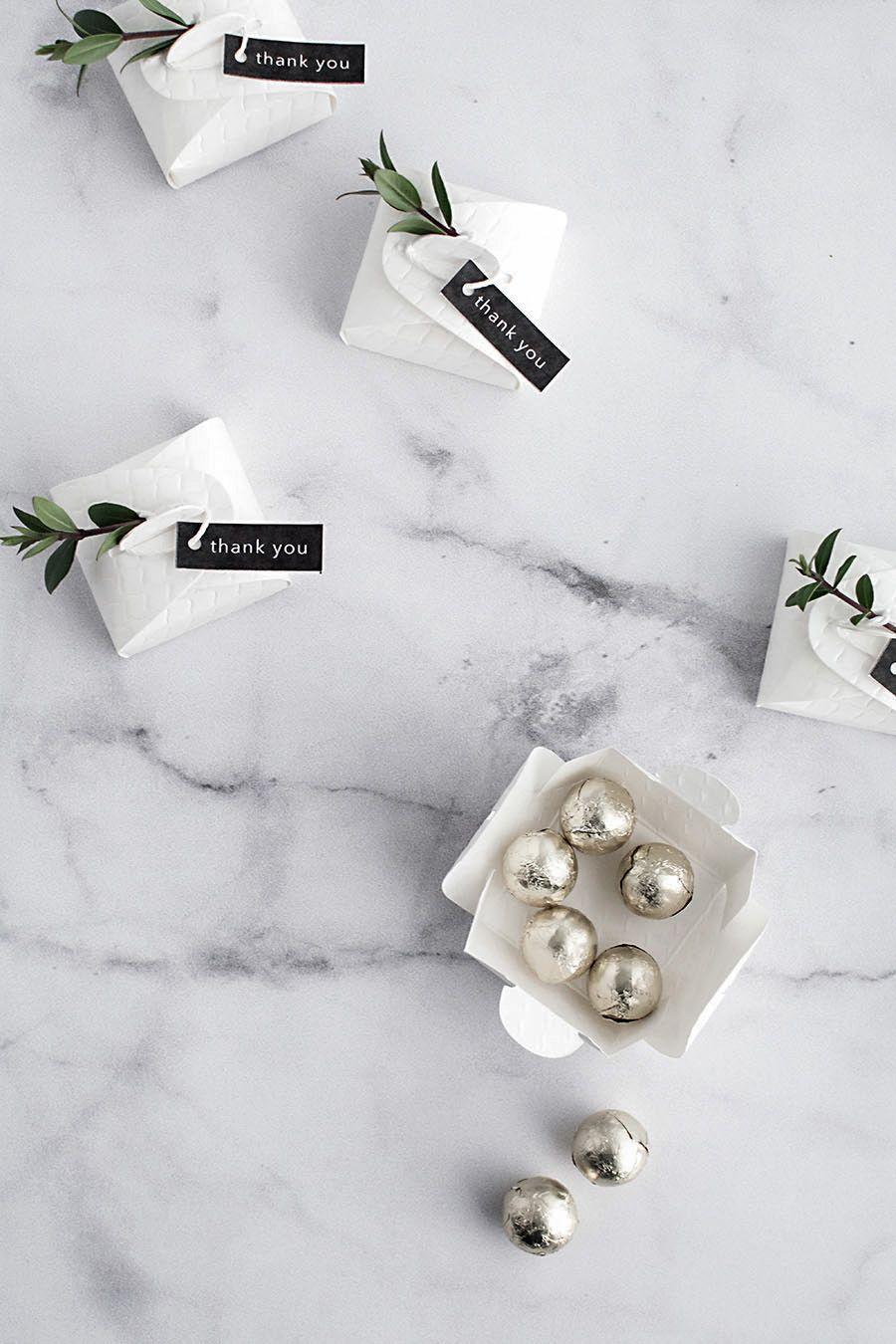 3 Simple and Modern DIY Wedding Favors - | Modern diy weddings ...