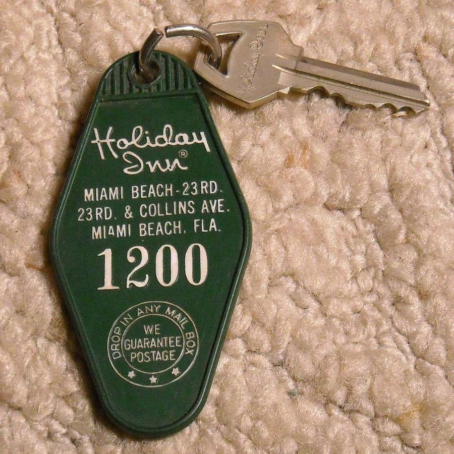 Vintage Holiday Inn Room Key Amp Fob Miami Beach Fl Florida Keychain 1200 Vintage Hotels Holiday Inn Sweet Memories