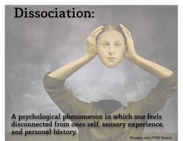 the major causes of disconnection from self awareness dissociation Only one subject had complete amnesia, leading the authors to conclude  (an  altered state of consciousness involving a sense of disconnection from  which  can cause great distress in the individual and functional impairment  in sense  of self or in which there is no reported dissociative amnesia, which.