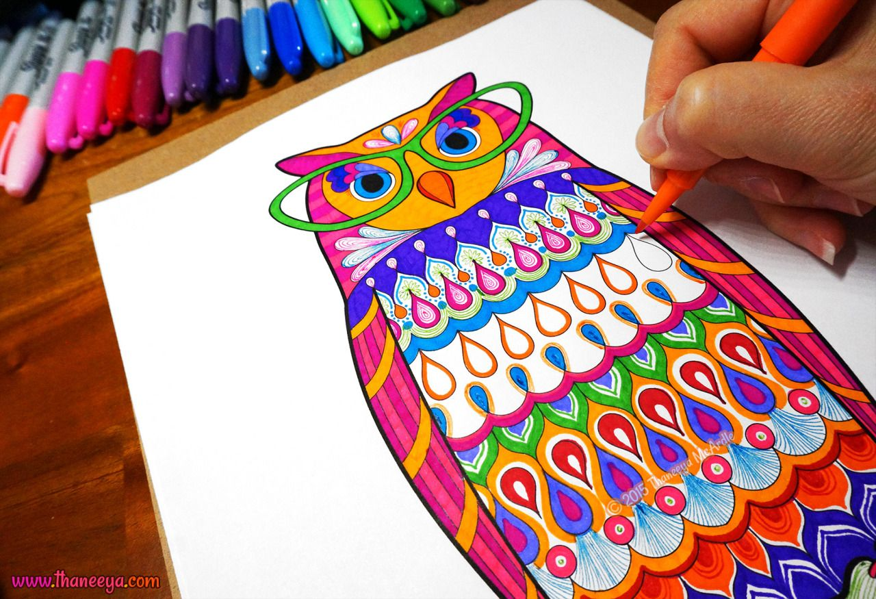 Owl Coloring Page From Thaneeya McArdles Dapper Animals