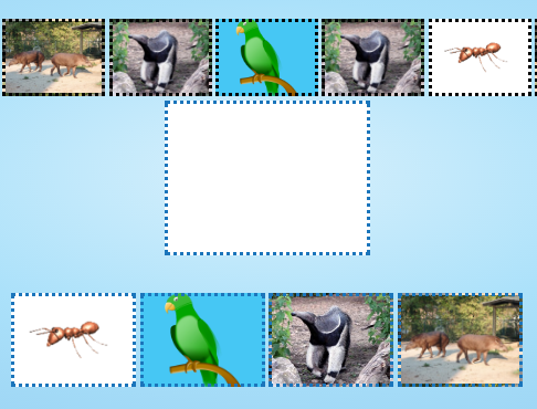 Continue sequence of animals Brain teasers for kids
