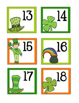 March St Patricks Day Calendar Cards Kids Calendar Calendar Numbers Printable Calendar