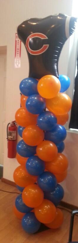 Chicago Bears Balloon Column