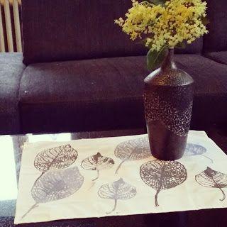 Sarahs Buntekiste: Tischset mit Deco & Lifestyle Textile Paint Placemats met #textielverf van #decoandlifestyle