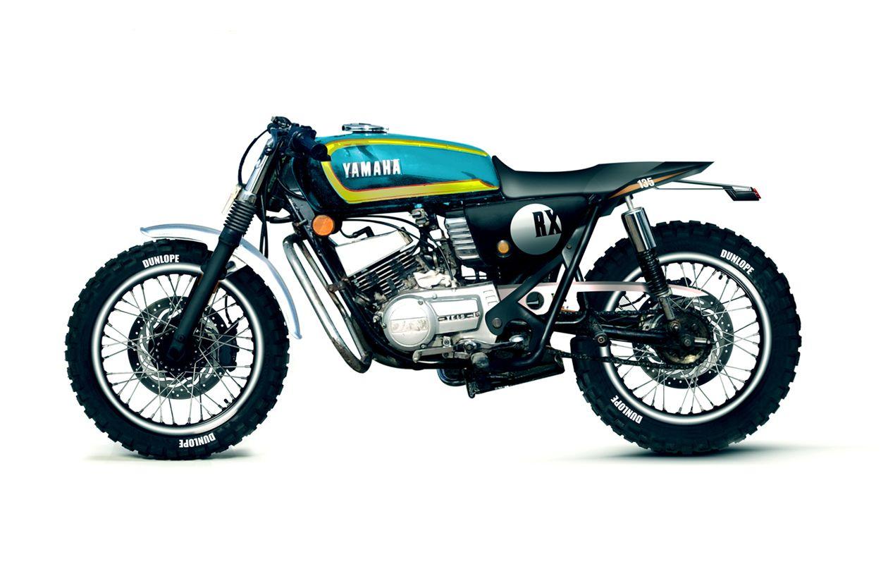 Concept Yamaha Rx100 Rx135 Yamaha Cafe Racer Yamaha Rx100