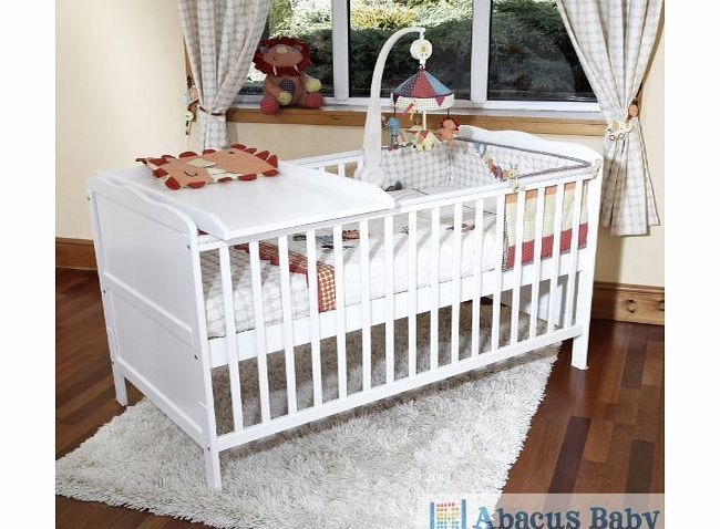Poppys Playground Baby White Cot Bed White Cot Bed White Cot