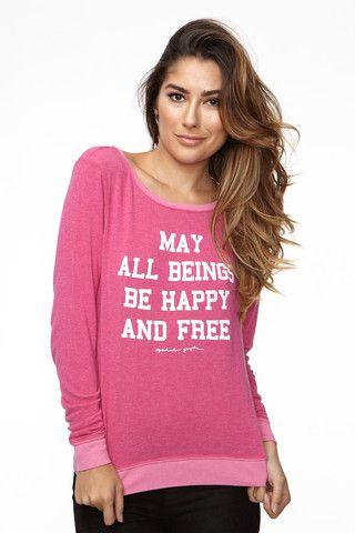 happy and free savasana pullover india pink  yoga