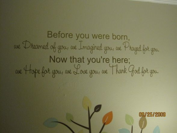 Quote for a Nursery Wall