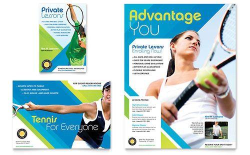 Tennis Club  Camp - Flyer  Ad Template Design Flyers Pinterest