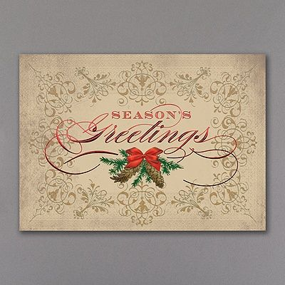 Vintage greetings holiday card if youre looking for a card done up plan your custom business holiday invitations with our large collection of affordable corporate holiday invites and company holiday christmas invitation reheart Choice Image