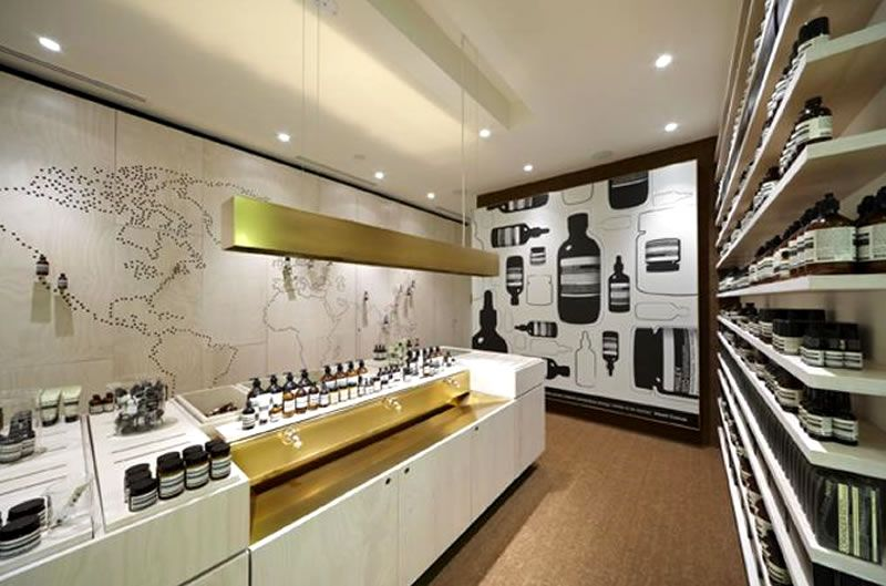 contemporary retail store interior design aesop australia - Retail Store Design Ideas