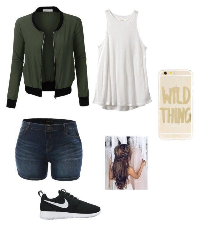 """Back to School"" by amaliek03 ❤ liked on Polyvore featuring LE3NO, RVCA, NIKE and Sonix"