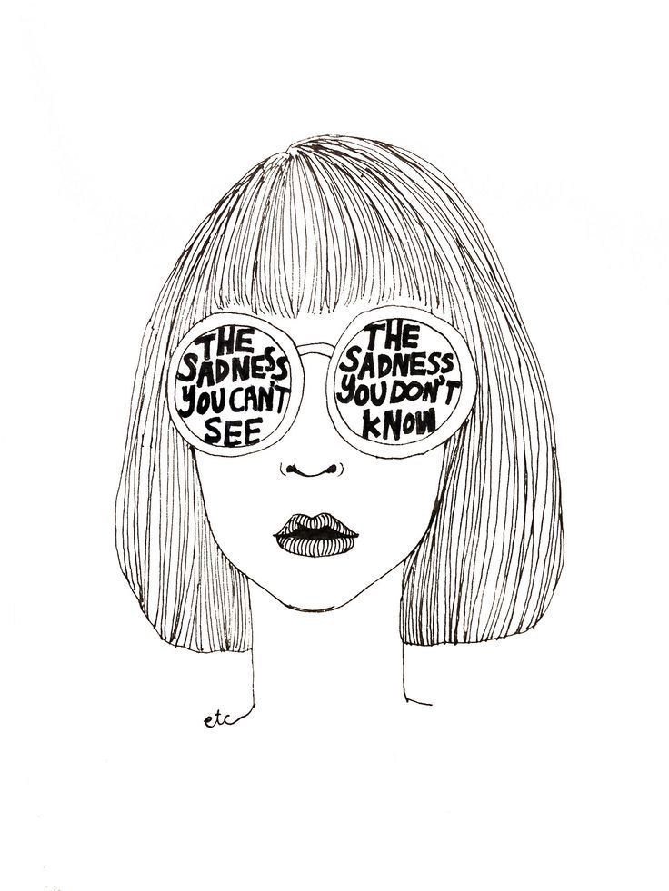Line Drawing Sad Face : Sad drawings tumblr google search artsy fartsy