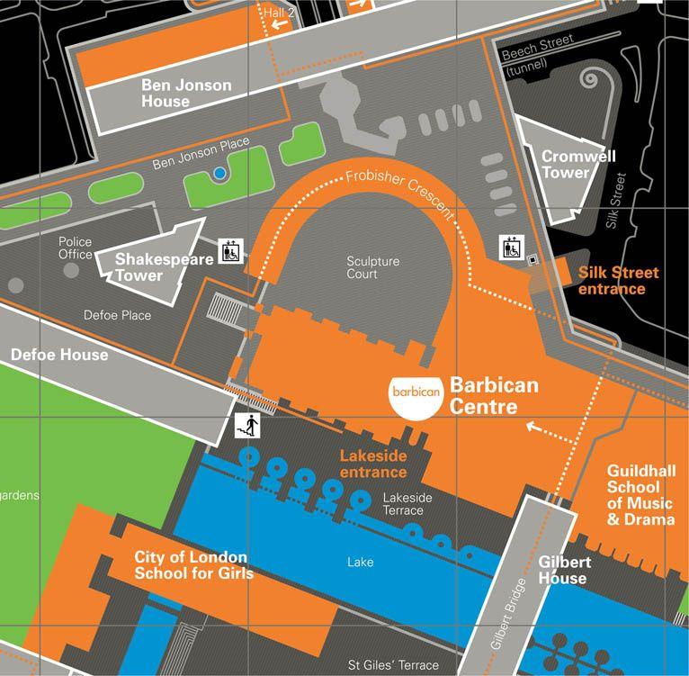 Mapa London%0A Barbican Estate map  u   cem u   efor Cartlidge