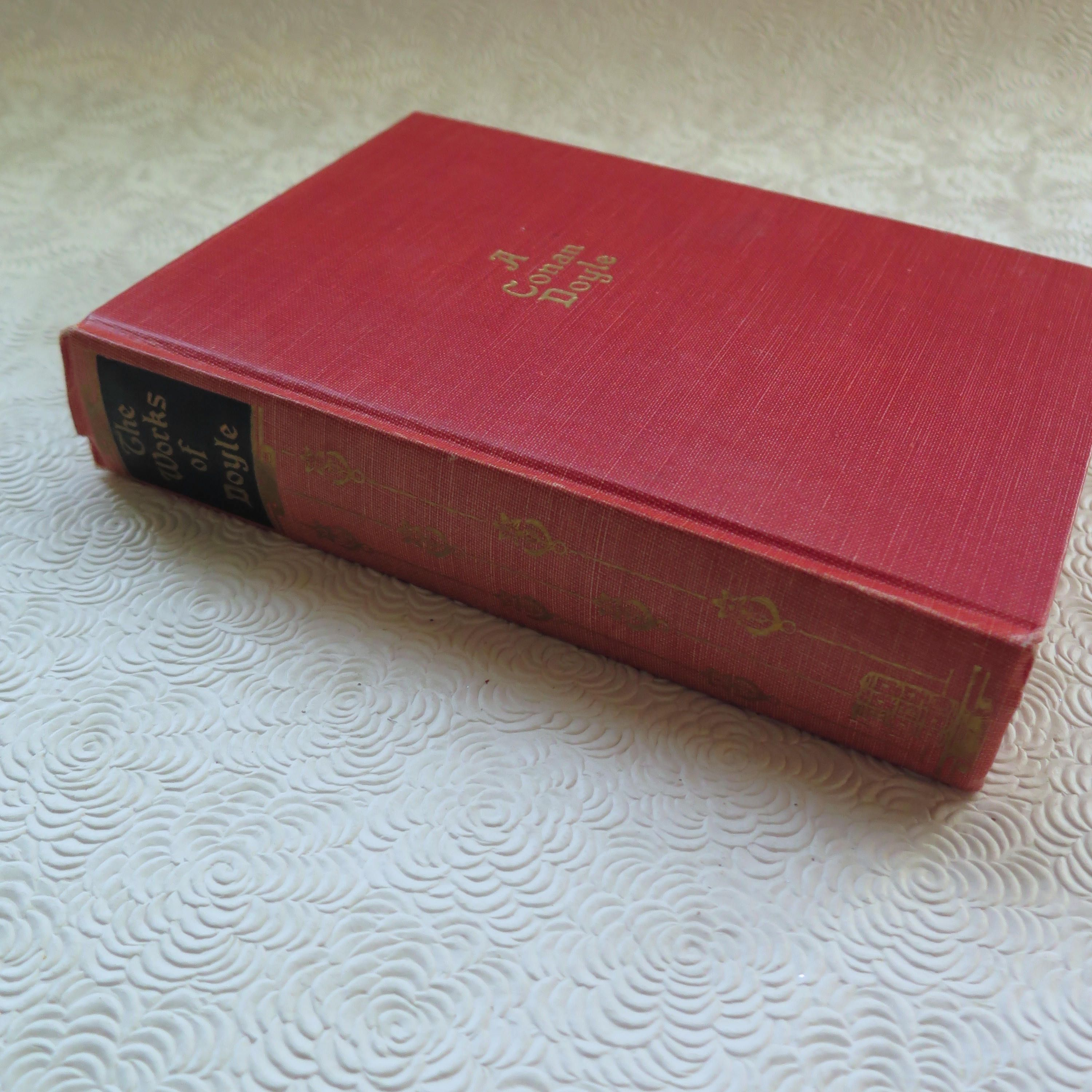 Vintage Sherlock Holmes Book The Works of A. Conan Doyle Arthur Conan Doyle Red Cloth 1928 Hardback Holmes One Volume Collection Dr. Watson